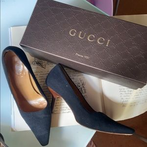 Tom Ford for Gucci Pointy Toe Pump Wood Heel 7.5